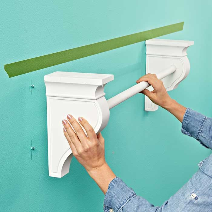 Wall Shelf With Hanging Rod From Lowes I Need A