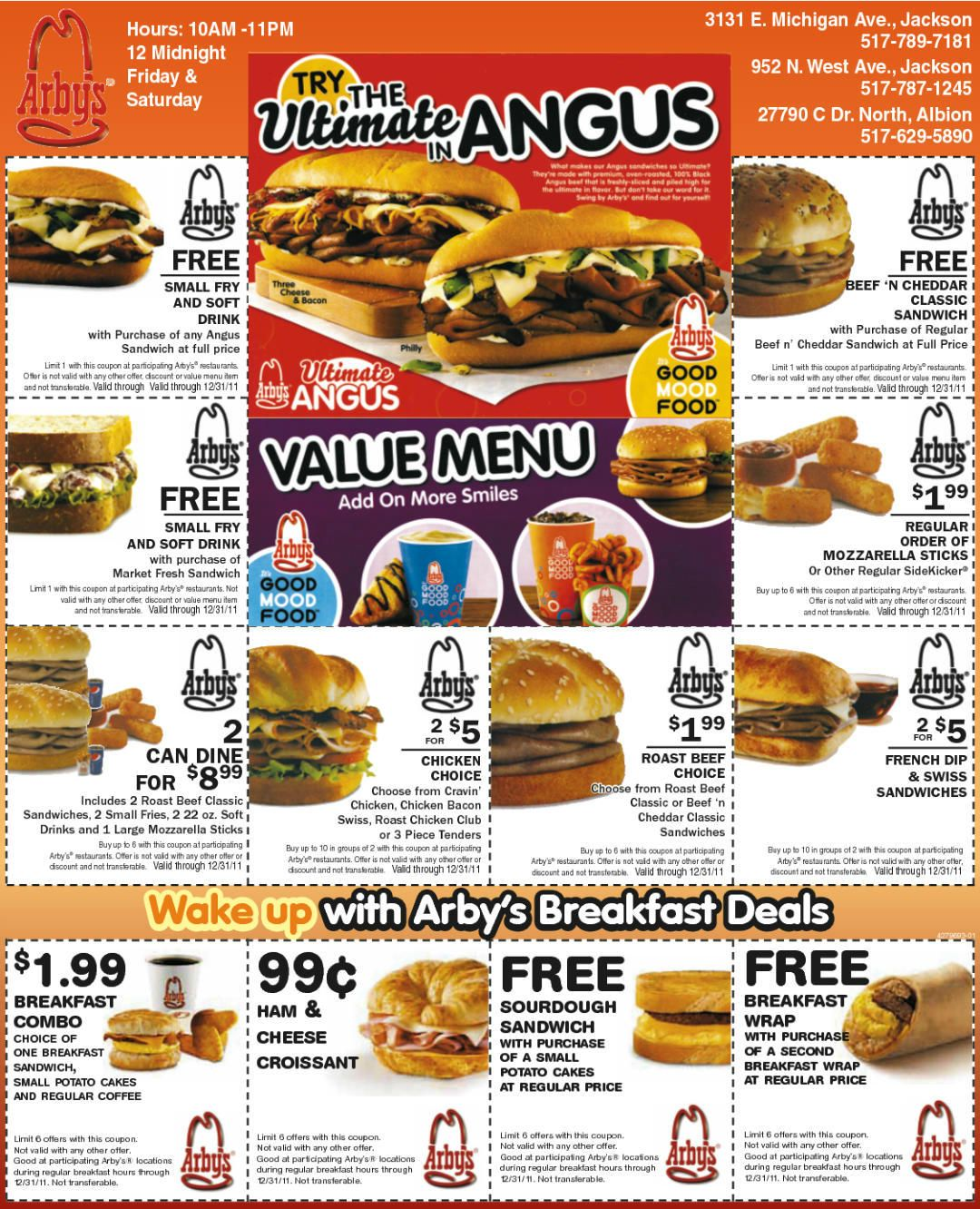 image relating to Arbys Printable Coupons called printable no cost Arbys coupon codes for June Coupon Visuals