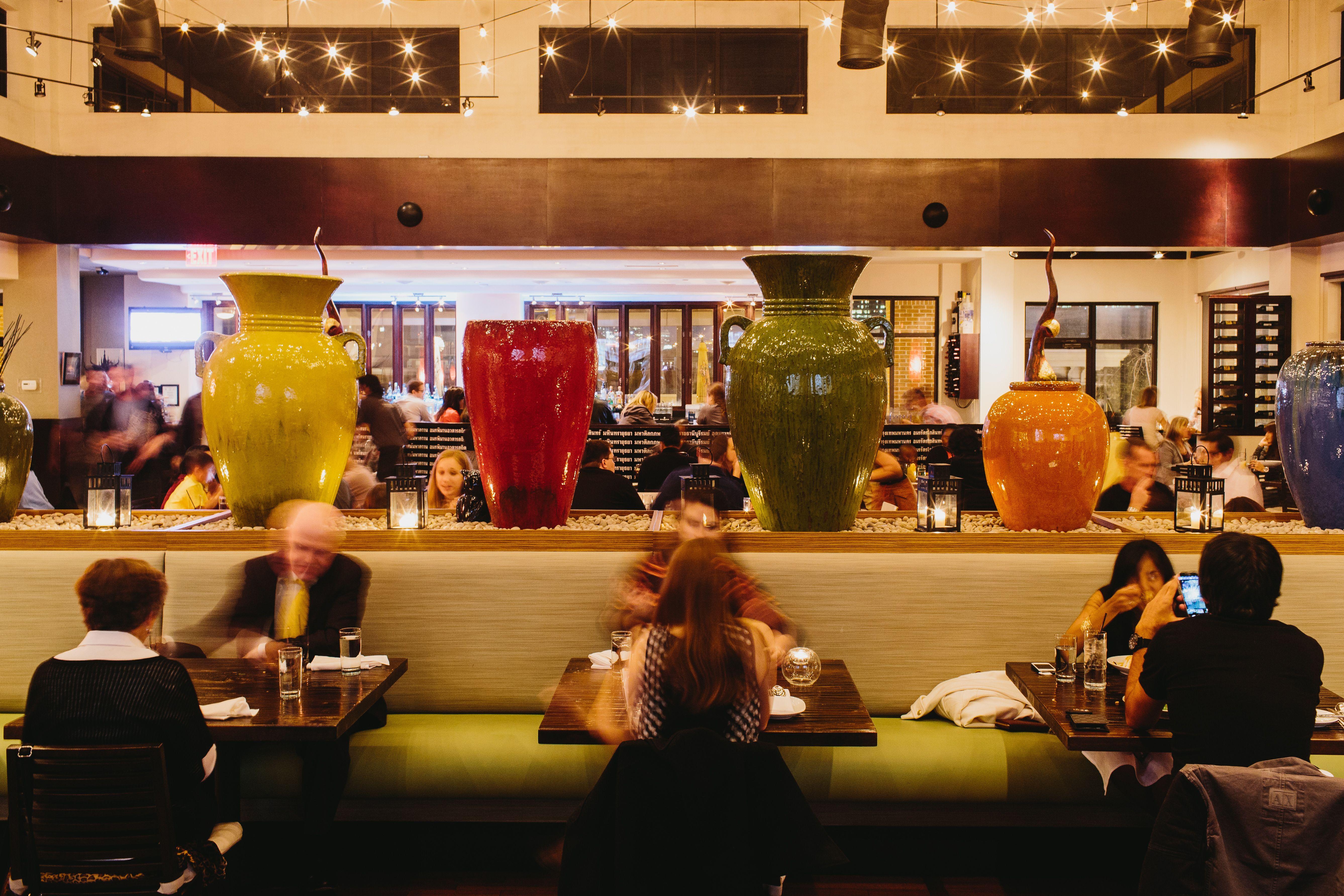 Main dining room area at tuk tuk thai food loft thai
