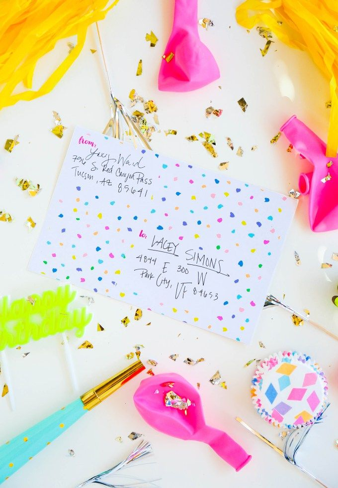 Surprise family and friends with this free party printable for - free mailing label