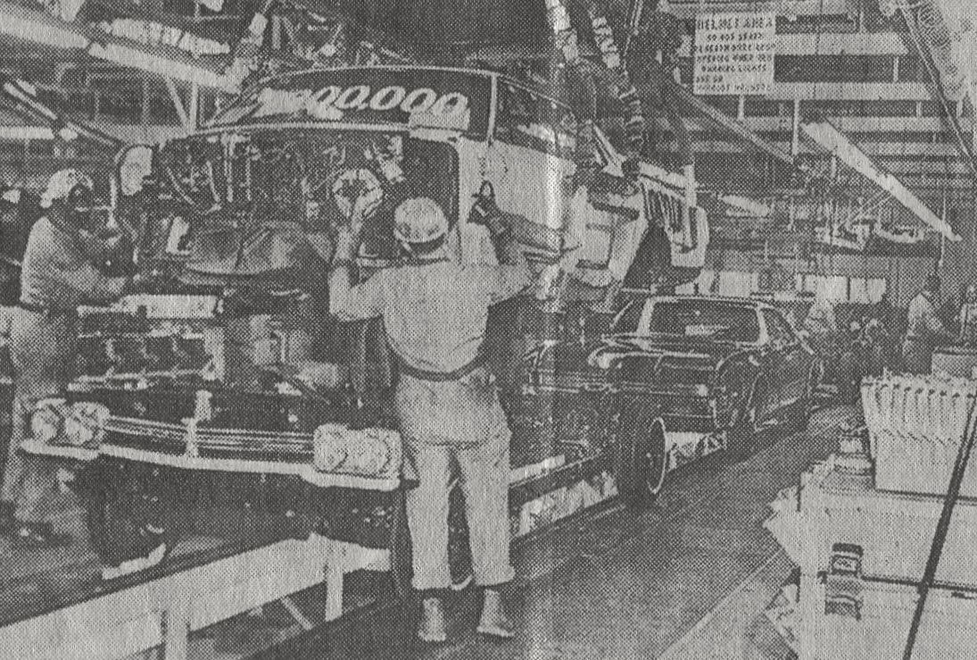 the 1 000 000th car being made at the gm plant in linden nj 1965 the 1 000 000th car being made at the gm plant in linden nj 1965