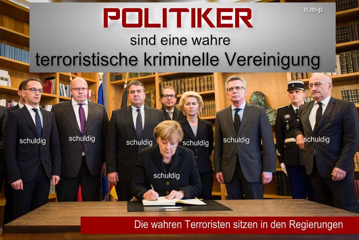 Bildergebnis für Bilder zu: Politiker sind eine wahre terroristische Vereinigung