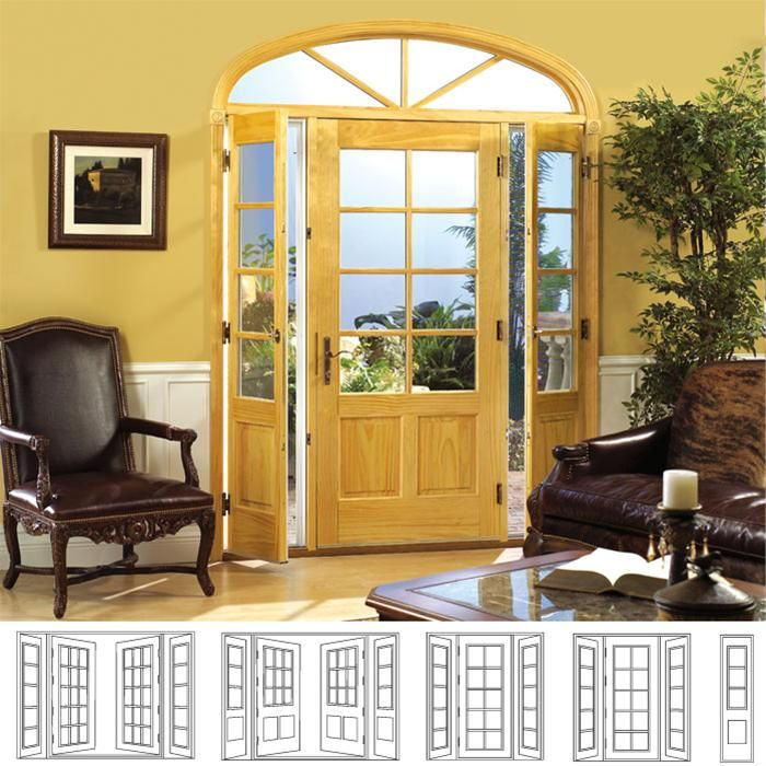 French Patio Doors With Venting Sidelites