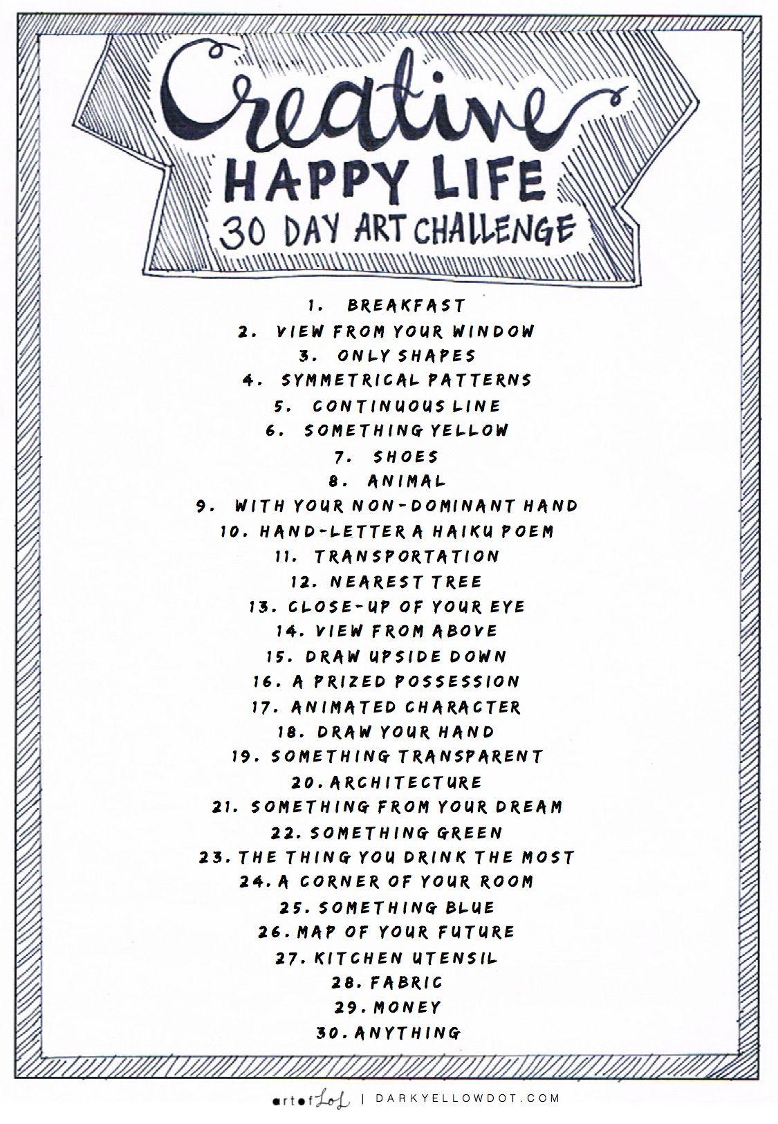 Creative Happy Life Art Challenge Dark Yellow Dot