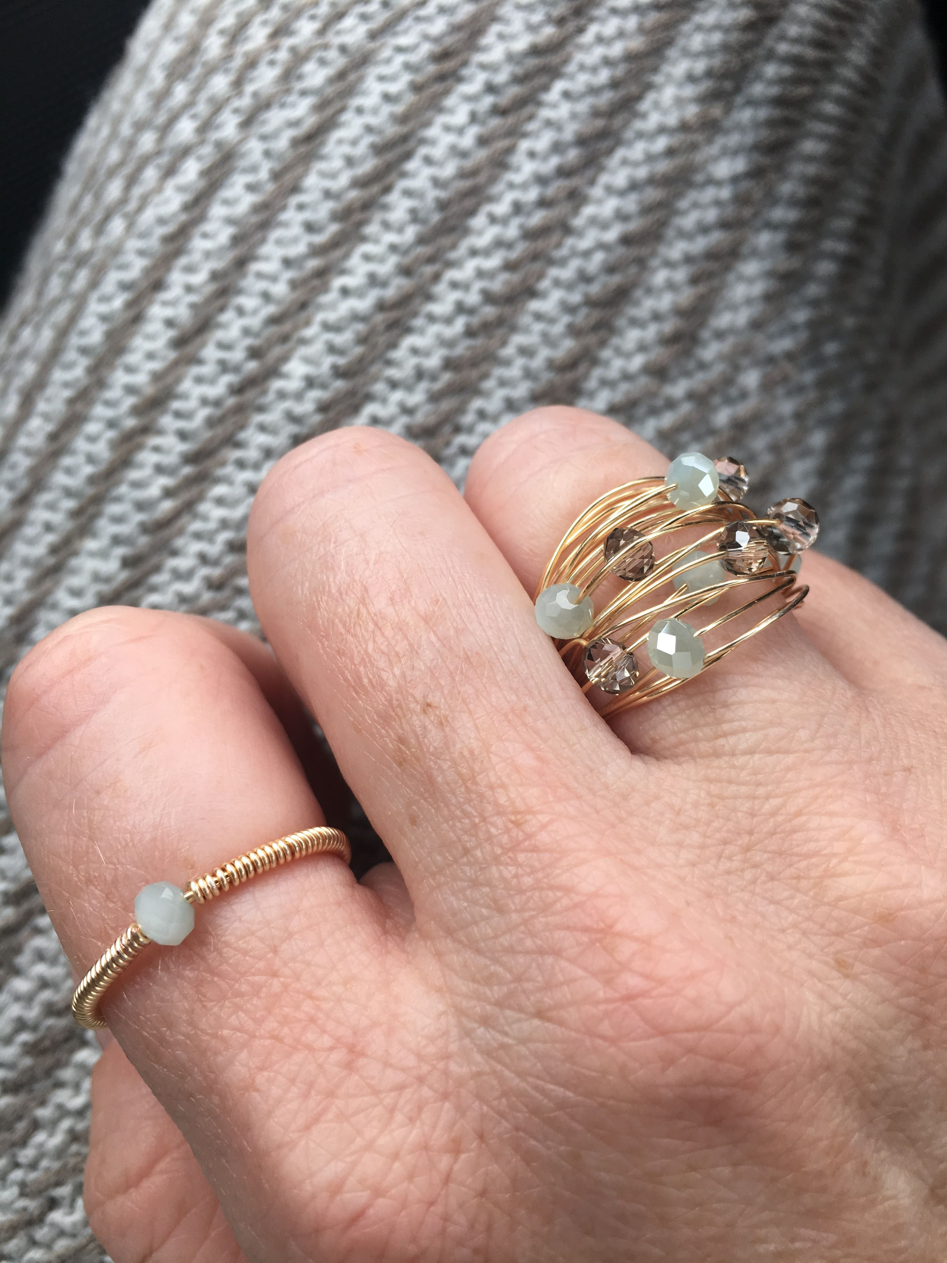 Wire Wrapped Accent Ring and Multi Wrap Multi Stone Ring | Boutique ...