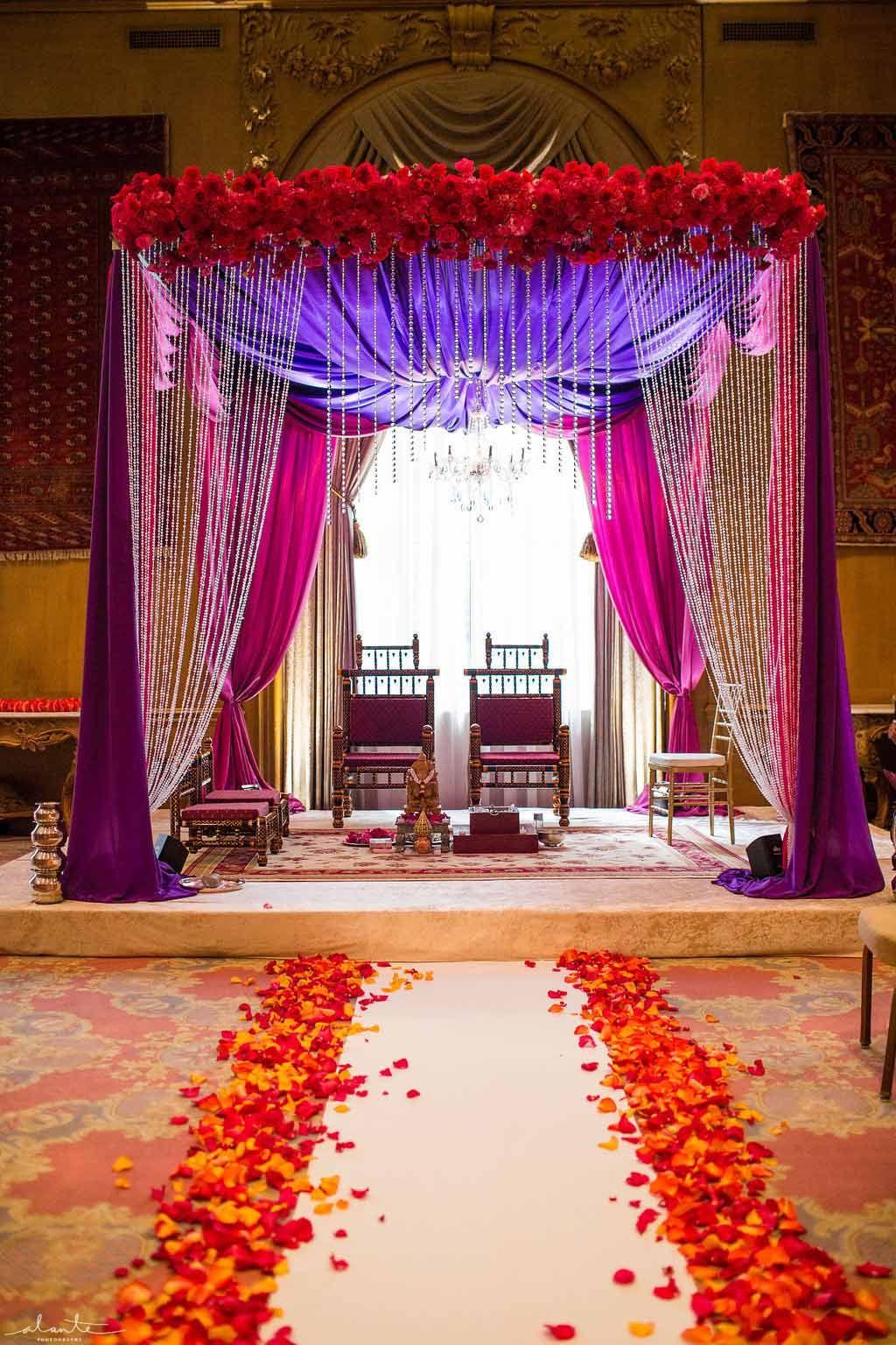 Flora Nova Design Indian wedding Fairmont Olympic Hotel