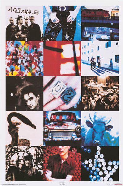 U2 No line on the Horizon Bono Album Cover Stretch Canvas Wall Art Poster Print