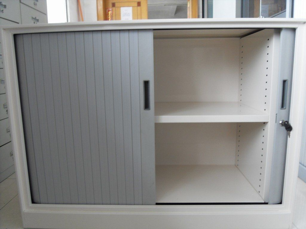 Multi Appliance Unit Medium Module With Roller Shutter In Alluminium Finish Adjustable Shelving Roller Shutters Rehau