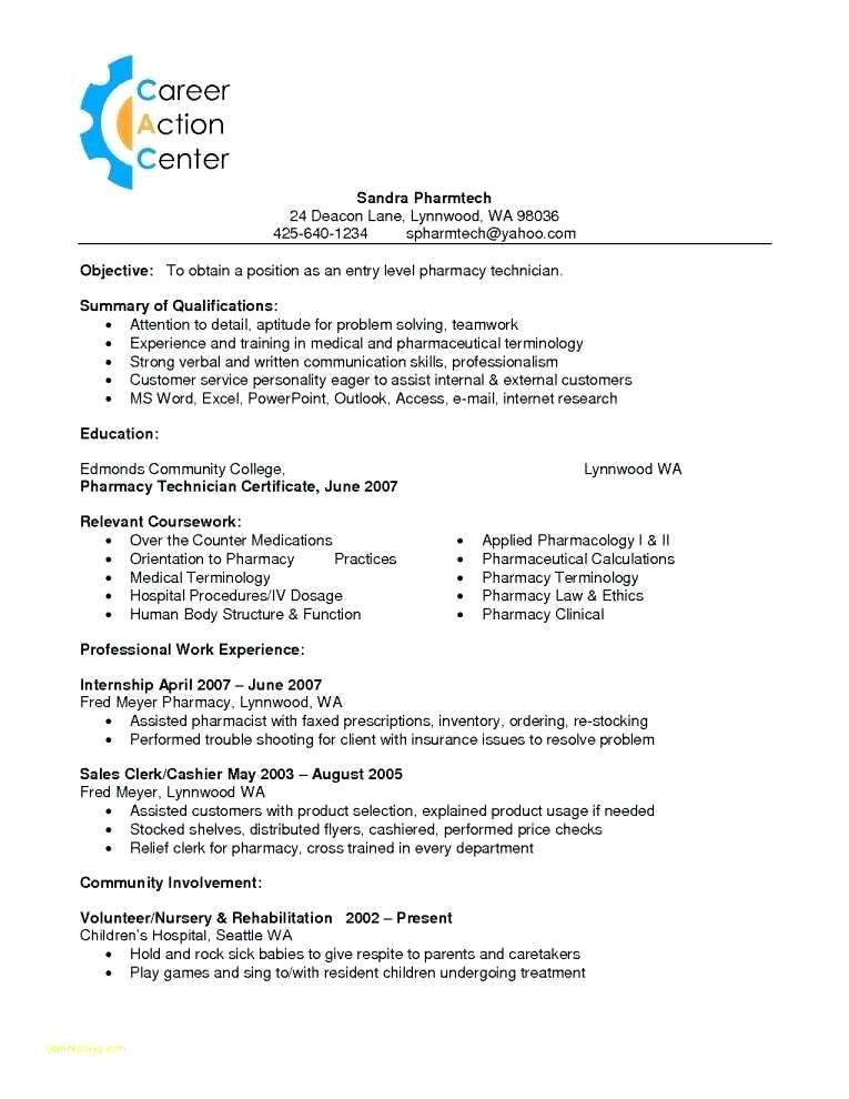 Surgical Technician Resume Pharmacy Technician Resume
