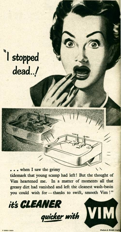 1951 VIM Cleaner Ad - Everything got cleaner with VIIM.