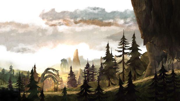 Child Of Light Village Google Search Fight Fathoms Village Child Of Light Game Background Art Lit Wallpaper