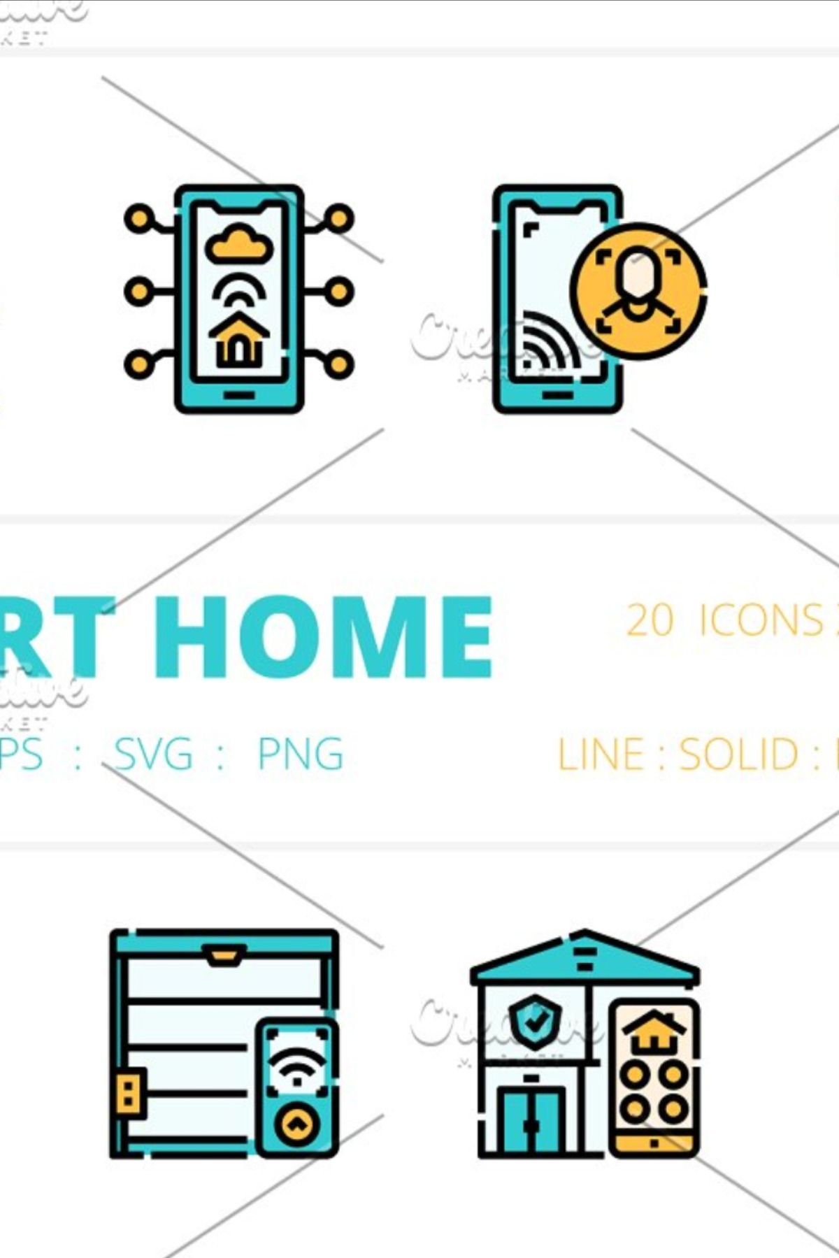 Smart Home icons packs in 2020 Home icon, Icon, Social