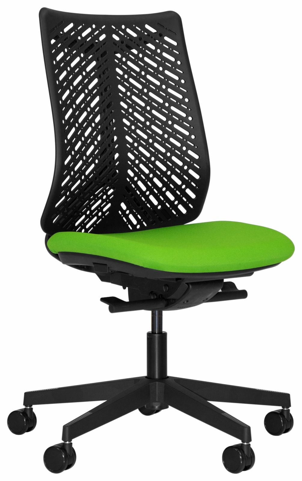Airflex task chair black base without support arms by