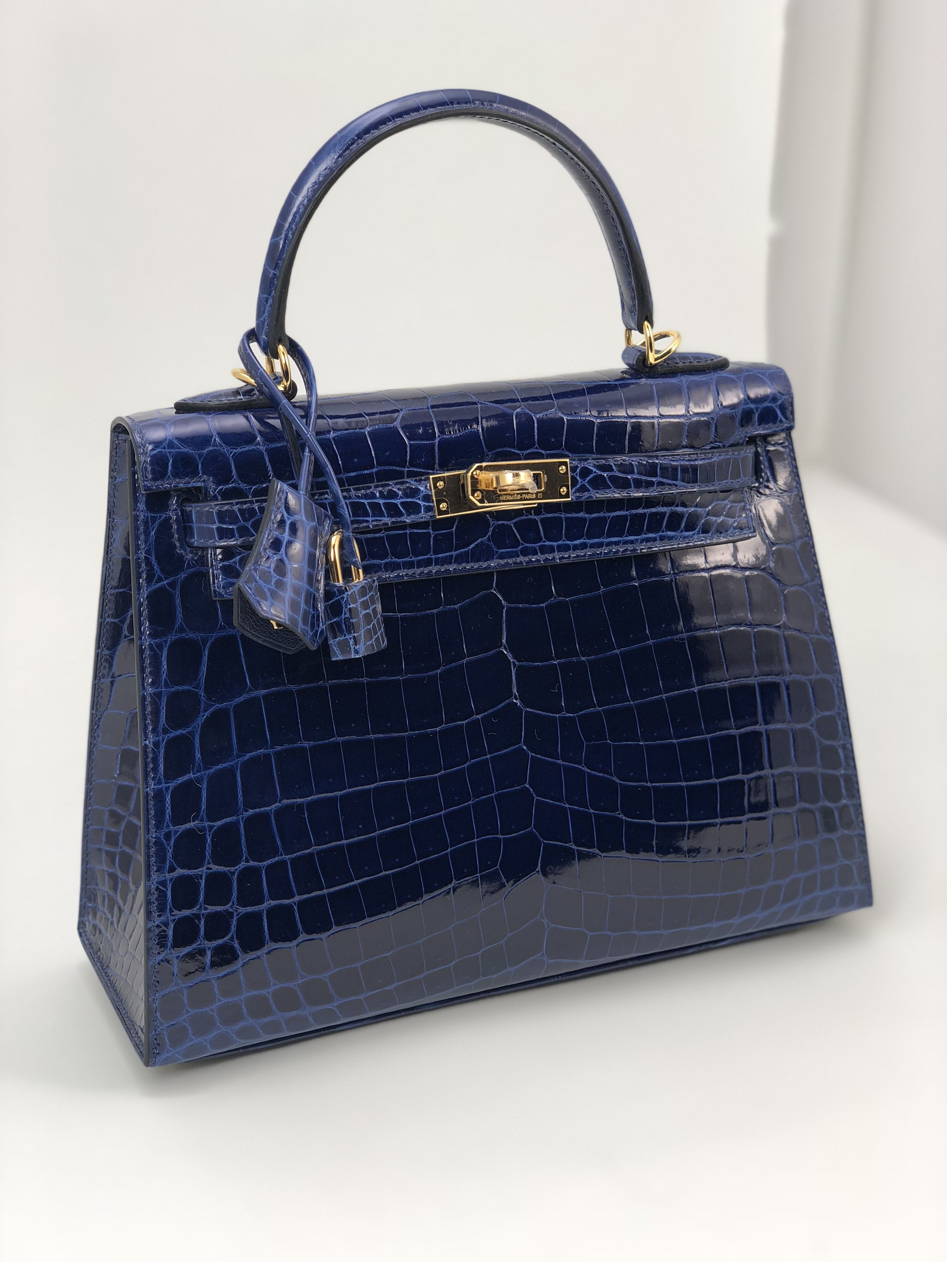 6a2be27823be Hermes Kelly Sapphire in Crocodile