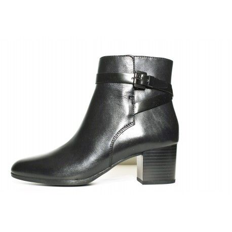 0350221574afd8 Bottine femme geox petalus cuir noir | Geox femme sur site www ...