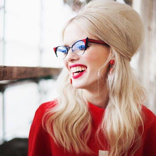 CAT EYE - our frame 5029 featured on @designscene ❤️ #andywolf #andywolfeyewear #eyewear #handmade #austria #fashion #editorial @cariin_cowalscii ❤️