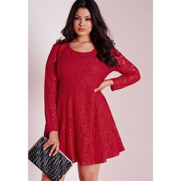 Missguided Plus Size Lace Skater Dress ($31) ❤ liked on Polyvore ...