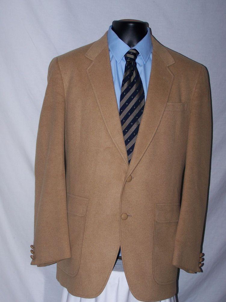 Lionel Smith LTD Vintage 2 Button Tan Camel Hair Men's Sport Coat ...