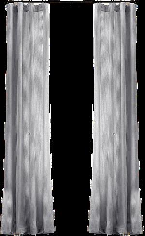 Garment Dyed Ticking Stripe Drapery Panel 96x60 White In 2020 White Drapery Panels Drapery Panels Stylish Curtains
