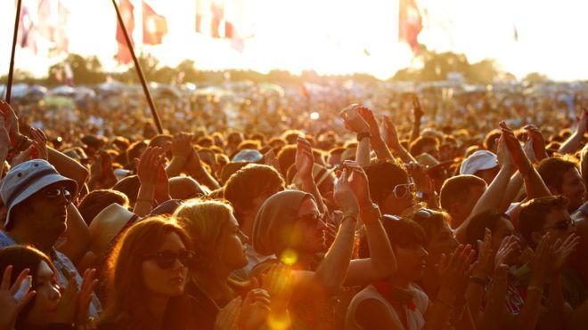 Music festival crowd