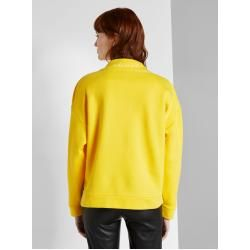 Photo of Tom Tailor women's sweatshirt with stand-up collar, yellow, plain-colored, size xxl Tom TailorTom Tailor