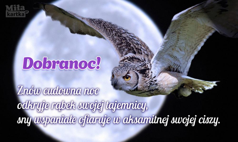Fajna Kartka Na Dobranoc Dobranoc Nadobranoc Sen Księżyc