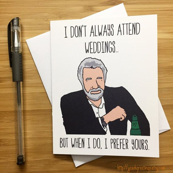 Funny Wedding Gifts For Bride: Funny Wedding Card, Wedding Announcement, Congratulations