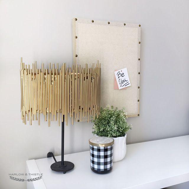 Photo of Harlow & Thistle – Home Design – Lifestyle – DIY: DIY Gold Light – Anthropologie Hack