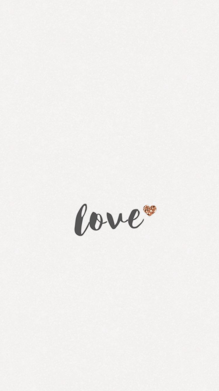 Love Wallpaper Iphone 6s Android Samsung Minimal Rose Gold