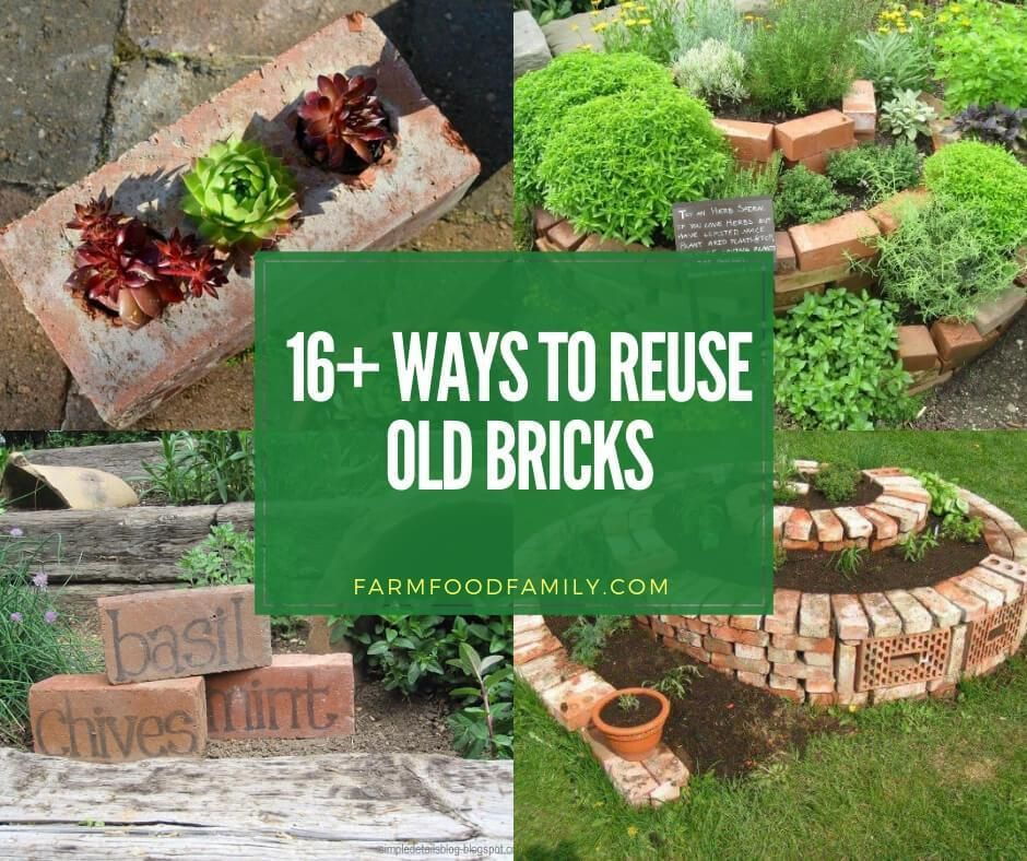 16 Creative Ways To Use Old Bricks In Your Garden With Images