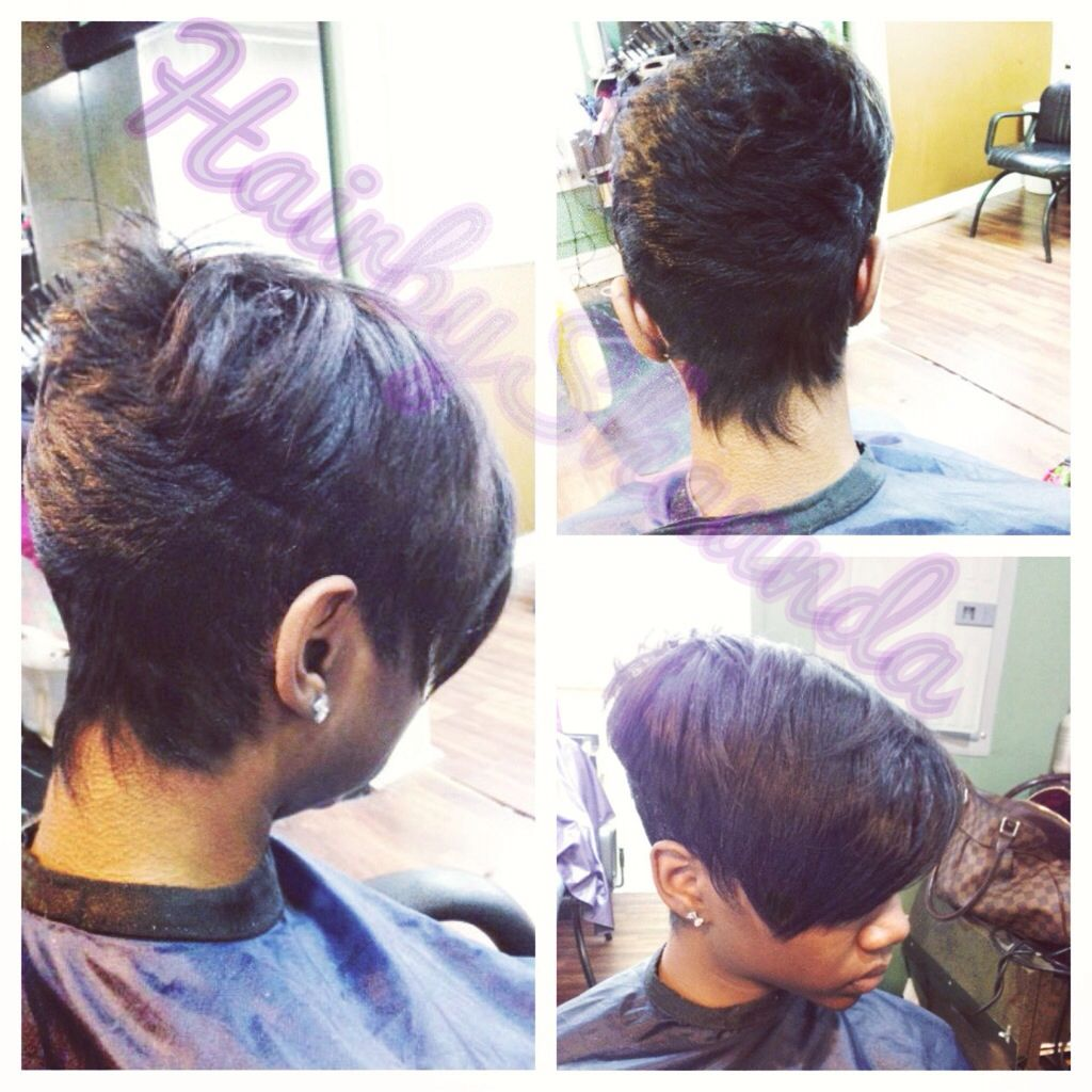 Strange Hair By Shaunda Short Cut For Black Women Razor Cut Short Hair Hairstyles For Men Maxibearus