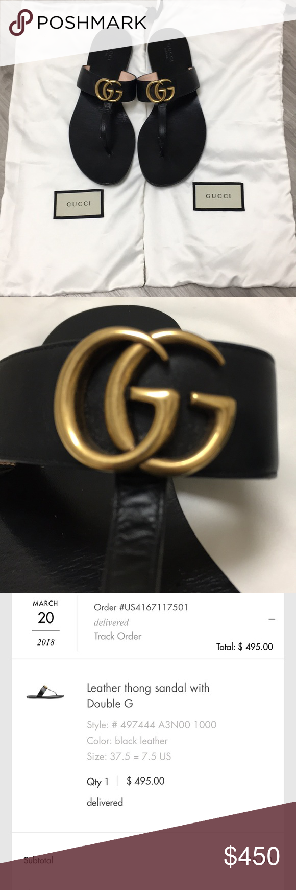 7f4e8d6be5fe12 AUTHENTIC GUCCI SANDALS - in stores now Bought from Gucci.com in 2018. Great