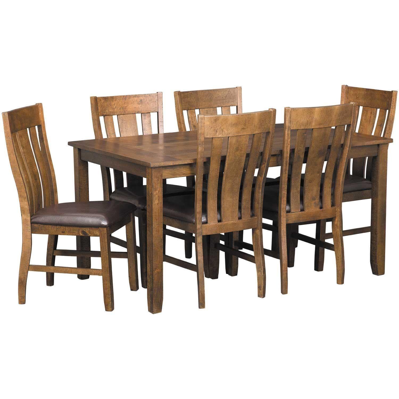 Kansas City 7 Piece Dining Set In 2020 7 Piece Dining Set