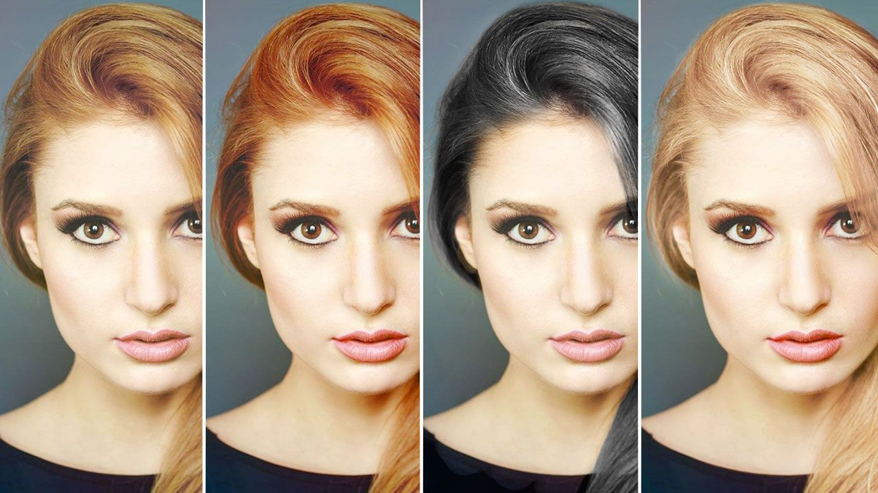 How To Change Hair Color In Photoshop Free Video Tutorial Color Photoshop Change Hair Color Photoshop Techniques
