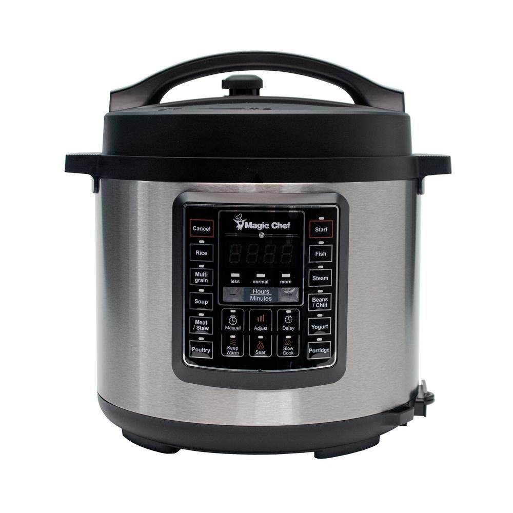 Magic Chef All In One 6 Qt Stainless Steel Electric Multi Cooker
