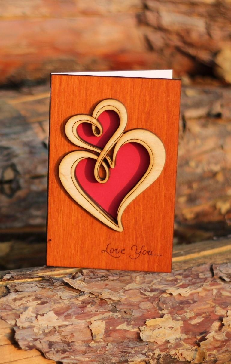 Anniversary Love You Funny Valentine Day Wooden Card Wood Gift