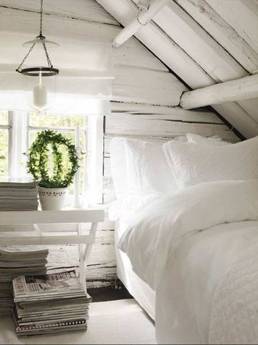 Trendy attic - Bedroom