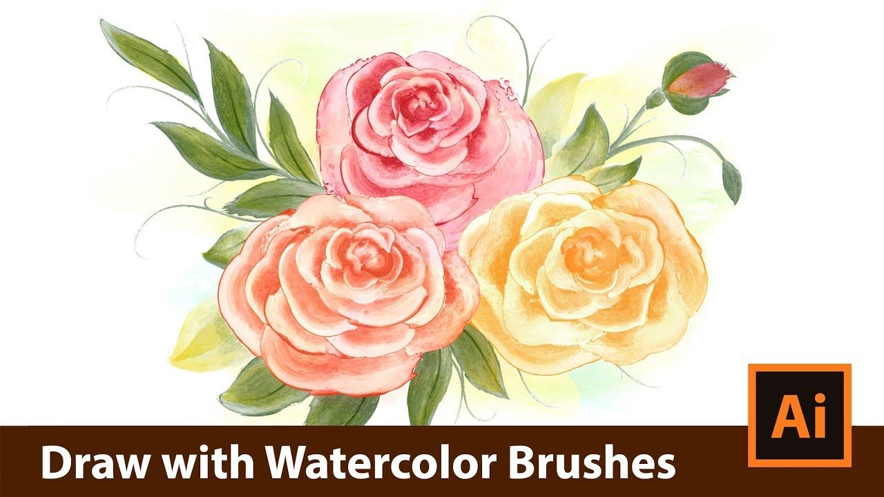 How To Draw With Vector Watercolor Brushes In Adobe Illustrator