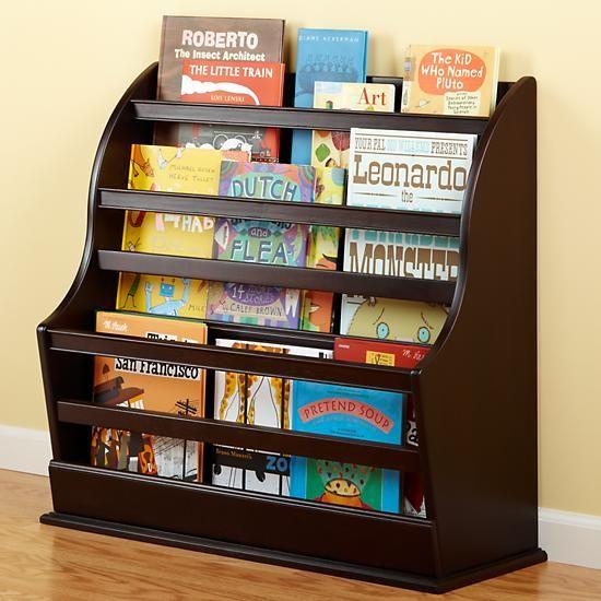The Land Of Nod Kids Storage Kids Espresso Floor Bookcase In