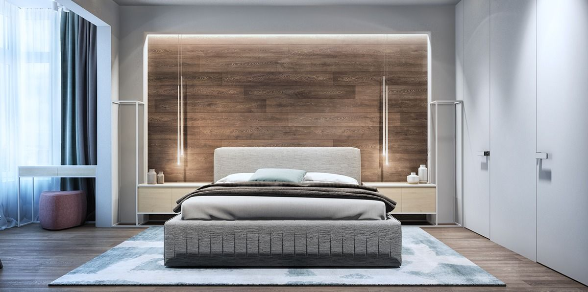 2 Luxury Apartment Designs For Young Couples   Deep blue, Master ...