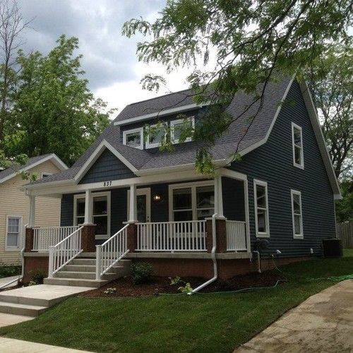 Craftsman style updates to cape cod very cute the home for Craftsman cape cod