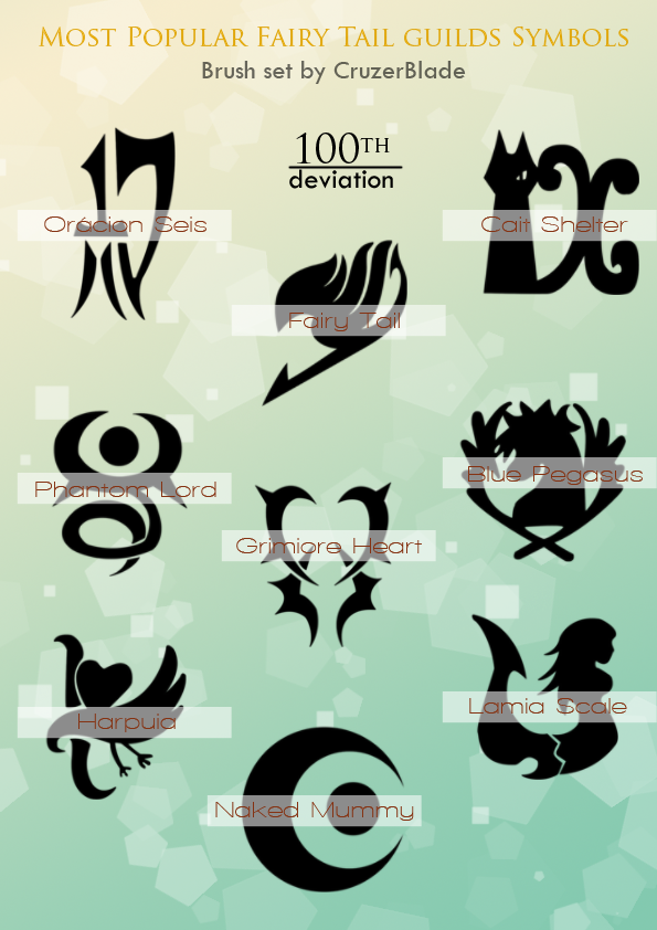 8bbba763c Fairy Tail Guilds Brush Set by CruzerBlade.deviantart.com on @deviantART