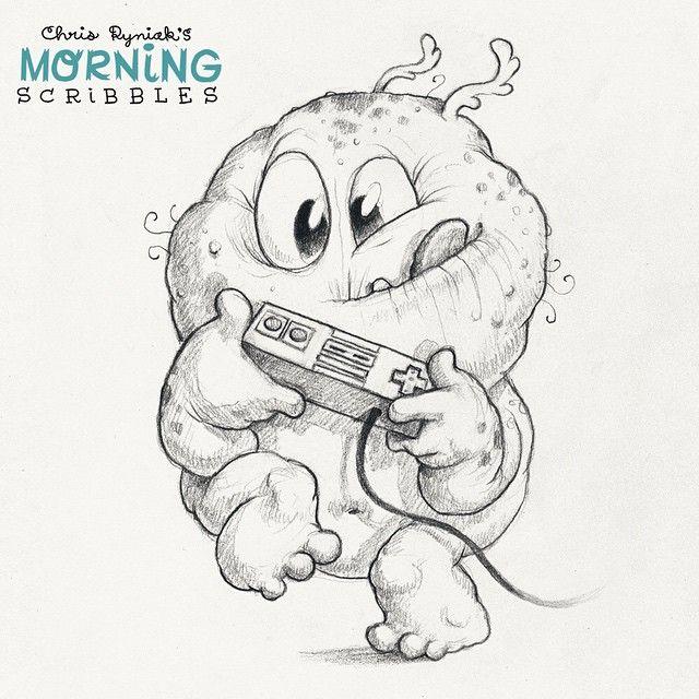 ⬆ ⬆ ⬇ ⬇ ⬅ ➡ ⬅ ➡ #morningscribbles Más | Monstertjes ...