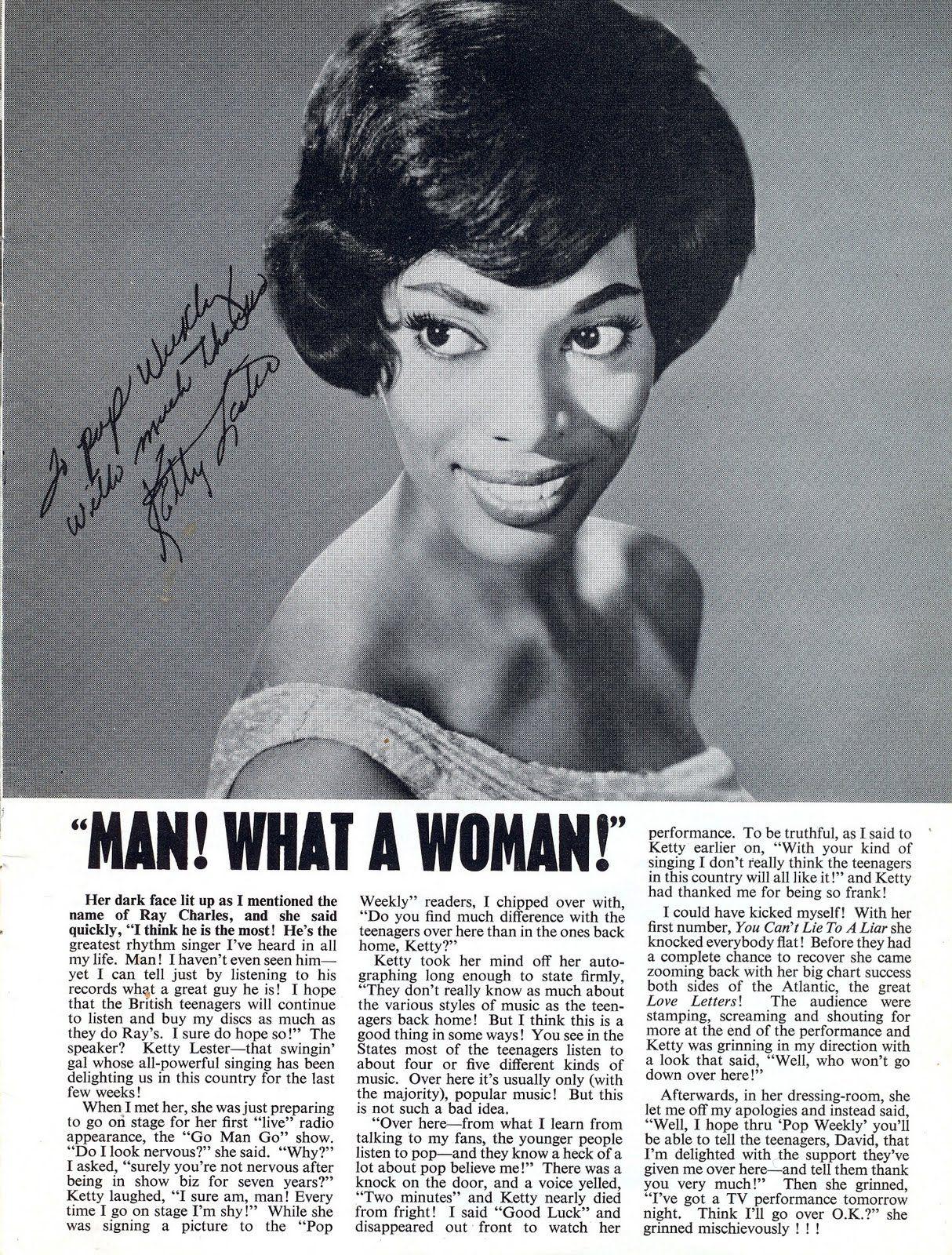 ketty lester | hey ladies, you rock | vintage newspaper