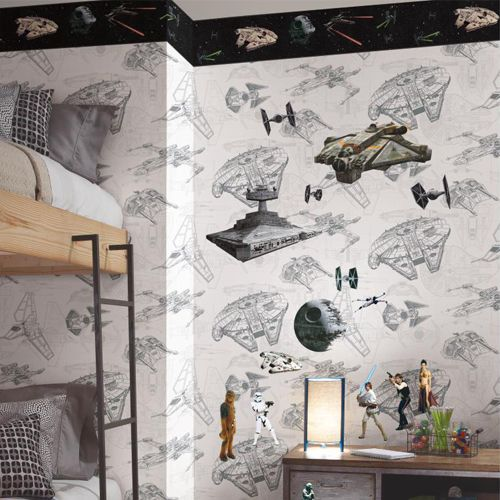 Star Wars Classic Ships Border From Disney Kids 3 Wallpaper Book By York Priced By The 15 Foot Spool Star Wars Patterns Star Wars Ships Disney Kids Wallpaper
