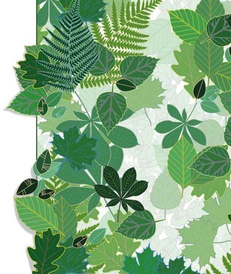 Papier peint feuilles - INTO THE WILD OBJETS DECO