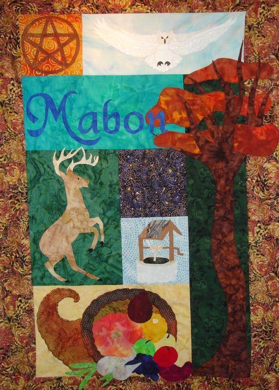 Mabon (Autumnal Equinox) Quilt Wallhanging Pattern #autumnalequinox