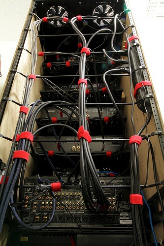 rack lacing home network  computer rack  structured wiring