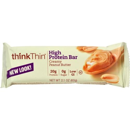 Think Products Thin Bar - Creamy Peanut Butter - Case Of 10 - 2.1 Oz - 0134155