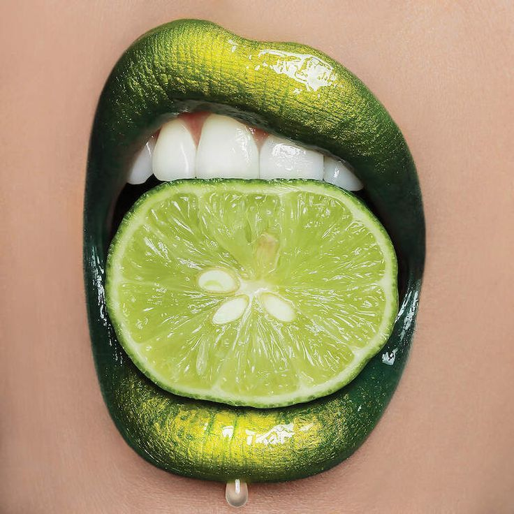 Photo of Lime Lips Canvas Art by Vlada Haggerty | iCanvas